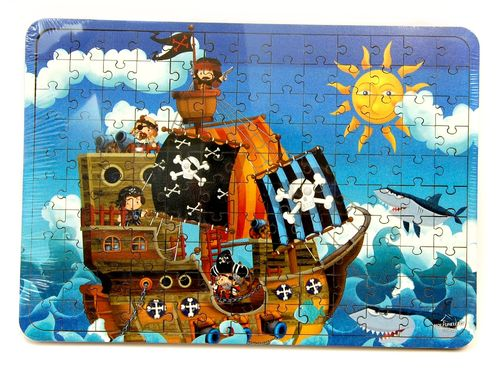 Baumgartner Holz-Puzzle Piratenschiff 18003