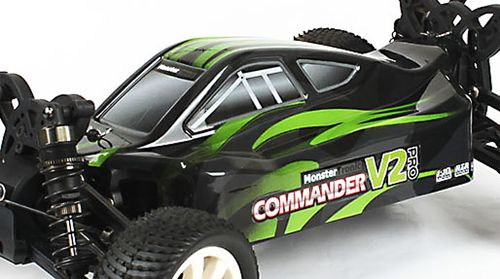 Monstertronic 1:10 Commander V2 Pro Buggy Karosserie mit Spoiler