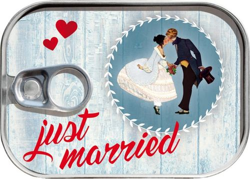 "Dosenpost ""Just Married"" Brautpaar"