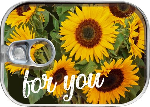 "Dosenpost ""for you"" - Sonnenblumen"